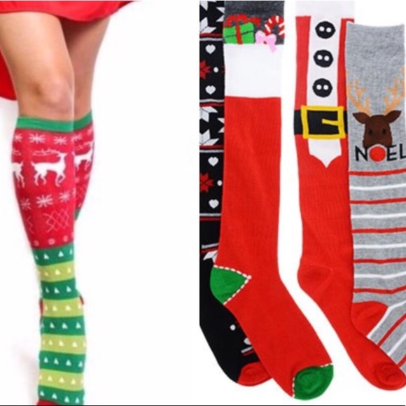 1752c8db245 Ladies Christmas Knee High Socks